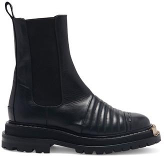 Sandro Paris Mid-Calf Leather Chelsea Boots