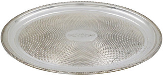 One Kings Lane Vintage English Silver-Plate Oval Serving Tray - Rose Victoria