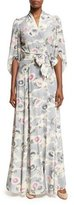 Co Mum-Print Silk Kimono Wrap Maxi Dress