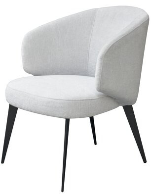 Safavieh Couture Bosco Curved Side Chair Fabric: White