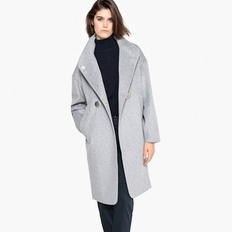 La Redoute Collections High Neck Wool Mix Coat