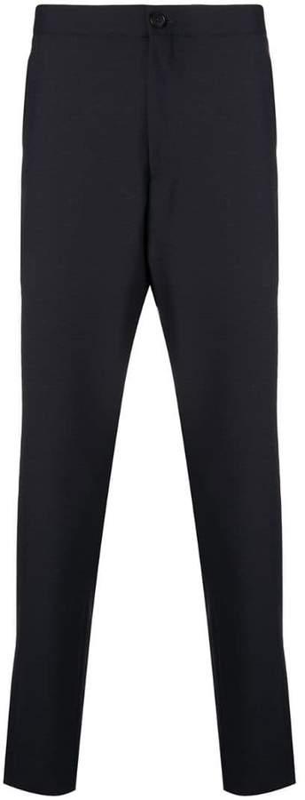 Ermenegildo Zegna creased slim-fit trousers