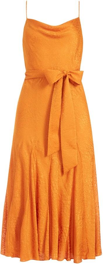 Alice + Olivia Webber Tie Waist Midi Dress