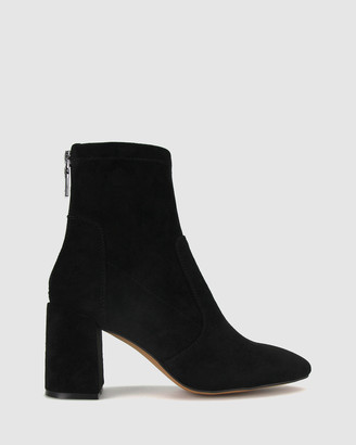 betts Women's White Heeled Boots - Gang Block Heel Ankle Boots - Size One Size, 5 at The Iconic