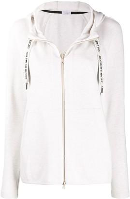 Brunello Cucinelli Zip Front Long Sleeve Hoodie