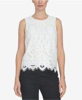 CeCe Floral Lace Shell