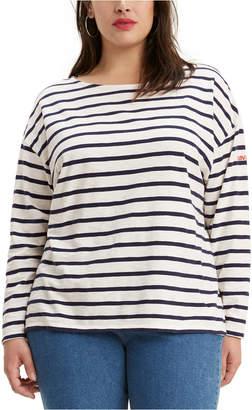 Levi's Trendy Plus Size Cora Slouchy Tie-Back Sweater