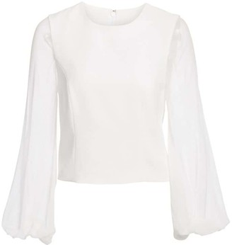 Cinq à Sept Elissa Sheer Long Sleeve Top