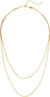 Argentovivo Double Row Herringbone Chain Necklace