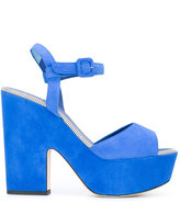 Le Silla chunky platform sandals - women - Suede/Leather - 36