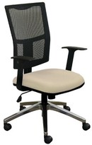 Weyer Mesh Task Chair Symple Stuff Upholstery: Flax Fabric and Aluminum Base