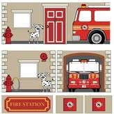 DHP Dorel Home Products Curtain Set for Junior Loft Bed, Fire Department