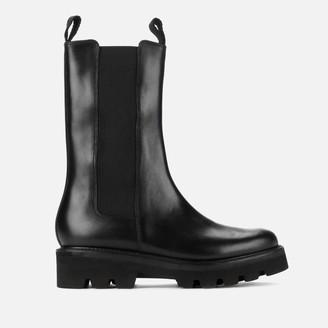Grenson Women's Doris Leather Chelsea Boots - Black Pull Up