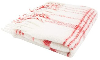 Free People Prep Brushed Plaid Blanke (Ivory Combo) Scarves