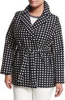 Marina Rinaldi Tea Geometric-Print Raincoat, Plus Size