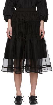 Renli Su Black Tiered Skirt