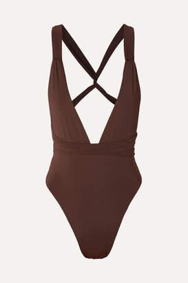 Myra - Farrah Swimsuit - Dark brown