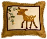 Lambs & Ivy Lambs and Ivy Enchanted Forest Decorative Pillow, Tan/Brown/Green