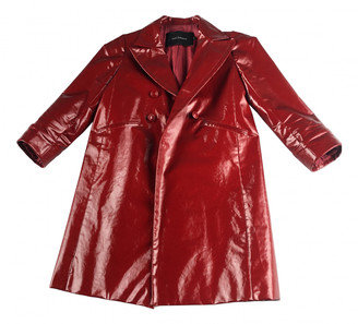 Tara Jarmon Red Patent leather Trench coats