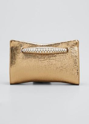 Jimmy Choo Venus Metallic Leather Clutch