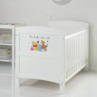 O Baby Disney Winnie the Pooh Inspire Cot Bed and Natural Coir Mattress - WTP & Friends