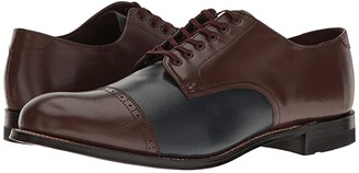Stacy Adams Madison Cap Toe Oxford (Brown/Navy) Men's Shoes