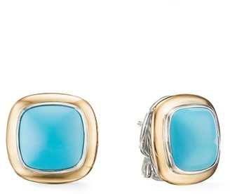 David Yurman Albion 18K Yellow Gold, Sterling Silver & Turquoise Stud Earrings