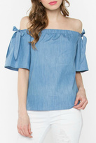 Sugar Lips Denim Off The Shoulder Top