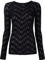 Gareth Pugh woven long sleeve top
