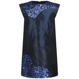 Kenzo KidsGirls Navy Sequin & Lurex Patterned Dress