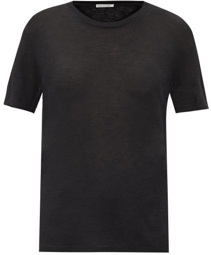 Thumbnail for your product : FRANCES DE LOURDES Johnny Cashmere-blend Jersey T-shirt - Black