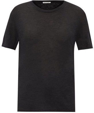 Frances De Lourdes - Johnny Round-neck Cashmere And Silk-blend T-shirt - Womens - Black