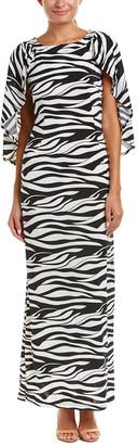 Melissa Masse Cape Maxi Dress