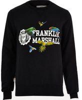 River Island MensBlack Franklin & Marshall print sweatshirt