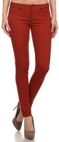 Couture Miss Kitty Women's Denim Pants and Jeans Rust - Rust Low-Rise Skinny Jeans - Juniors