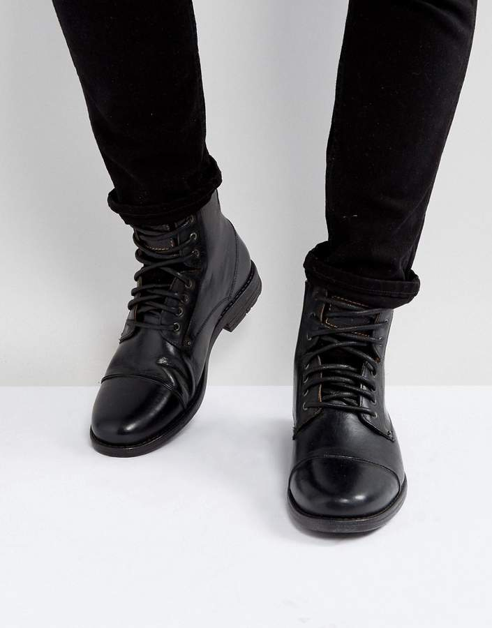 Levi's Levis Emerson Leather Boots In Black