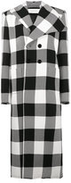 Marques Almeida Single-breasted Check Long Wool Coat