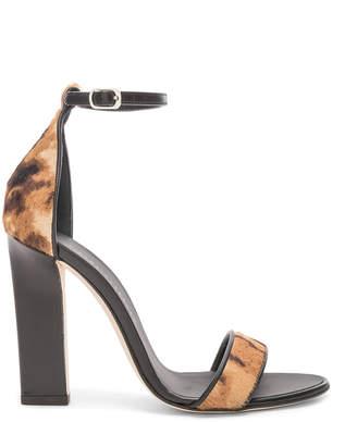 Victoria Beckham Ponyhair Anna Ankle Strap Sandals in Leopard Print | FWRD