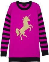 Juicy Couture Unicorn Stripe Mix Sweater Dress
