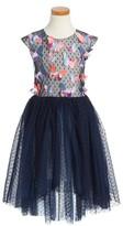 Halabaloo Toddler Girl's Dot Butterfly High/low Dress