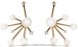 TASAKI 18kt yellow gold Daydream Akoya pearl and diamond earrings