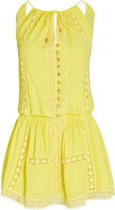 Melissa Odabash Chelsea Lace-Trimmed Mini Dress