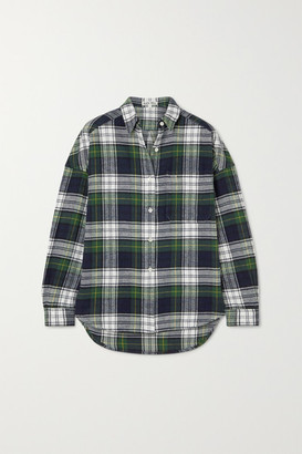 Alex Mill Checked Cotton-flannel Shirt - Green