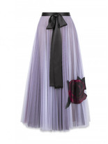 Christopher Kane Tulle skirt with Gazar Rose