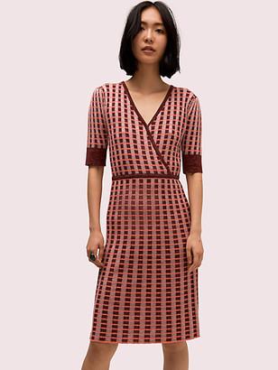 Kate Spade Plaid Wrap Sweater Dress