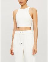 Vaara Kara zipped stretch-jersey crop top