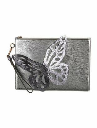 Sophia Webster Flossy Glitter Butterfly Clutch Metallic