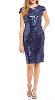 Calvin Klein Cowl Back All Over Sequin Dress