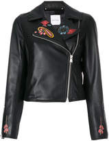 Paul Smith embroidered biker jacket