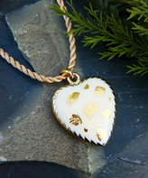 Vera & Co. Women's Necklaces - White & Goldtone Confetti Heart Braided Pendant Necklace